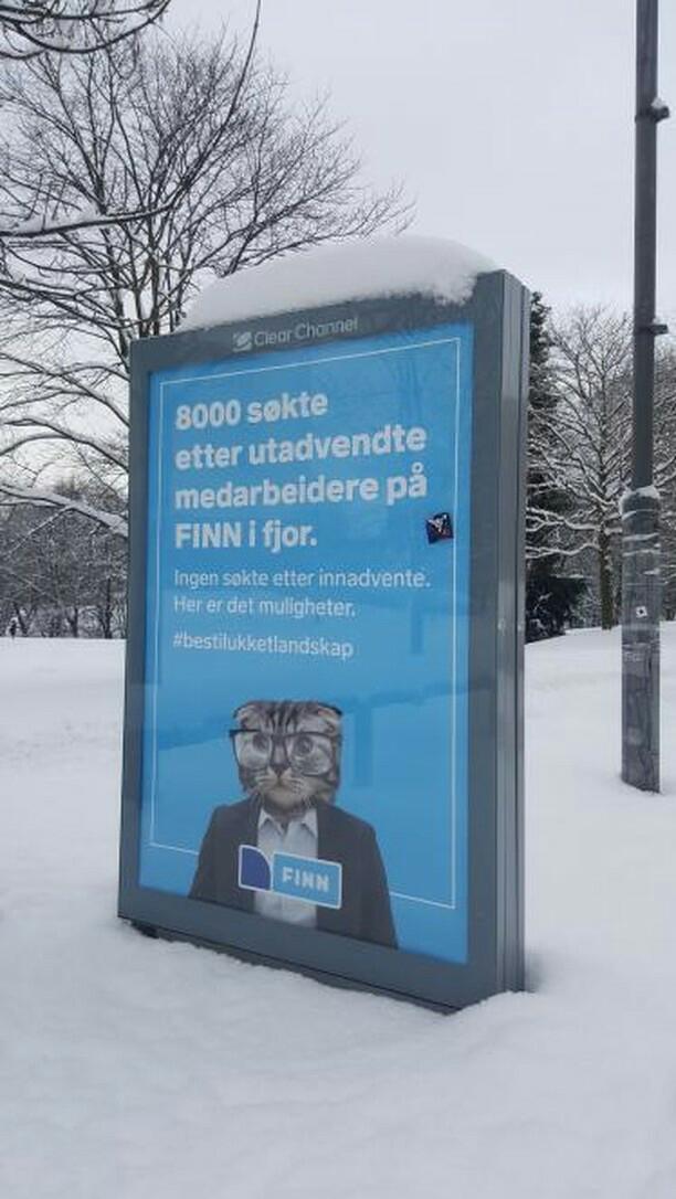 8000 søkte etter utadvendte medarbeidere på FINN i fjor.